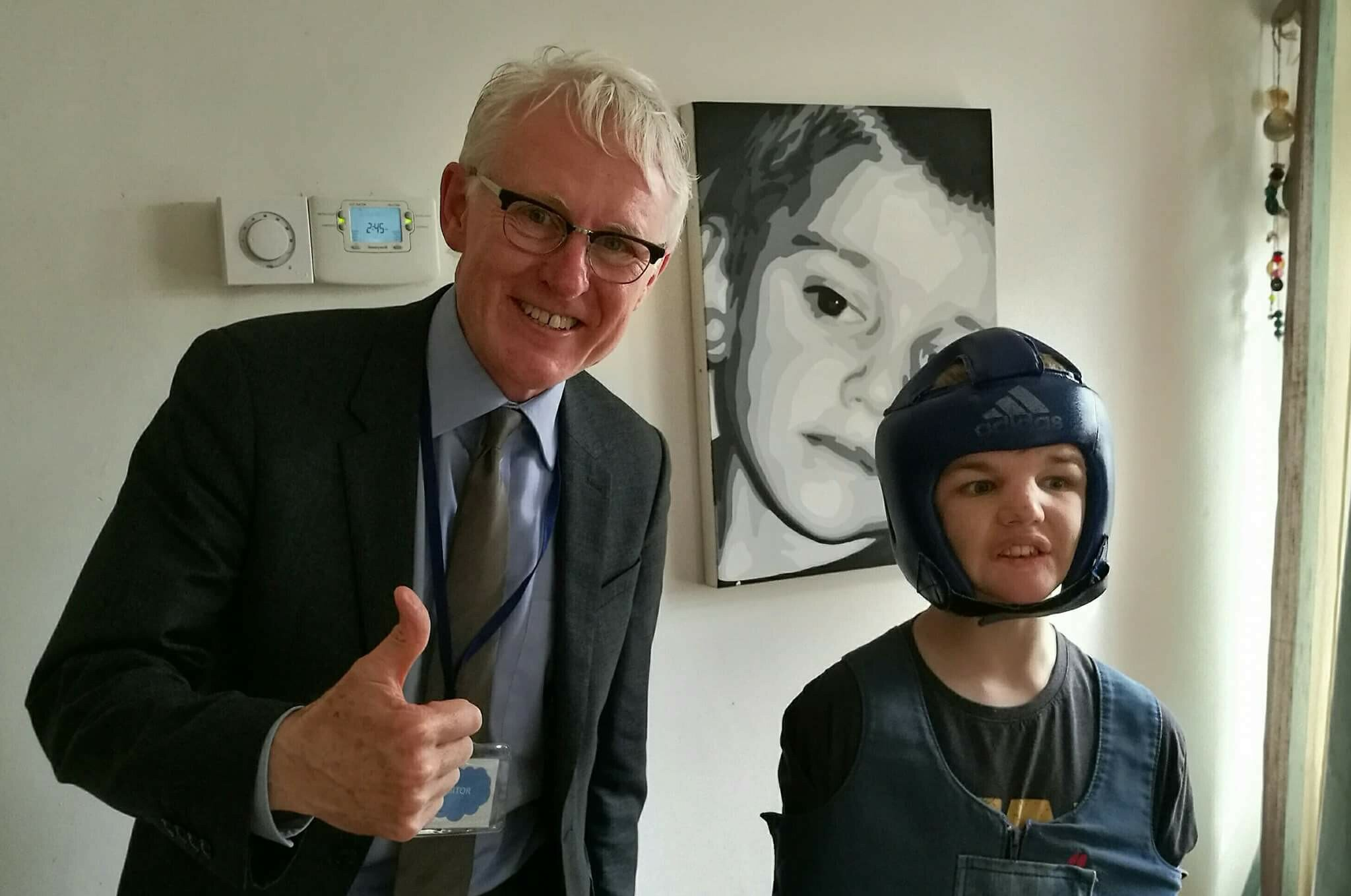 Norman Lamb MP meeting Josh for the first time since he left the ATU