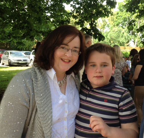 Mary Busk, family carer, with her son Alex